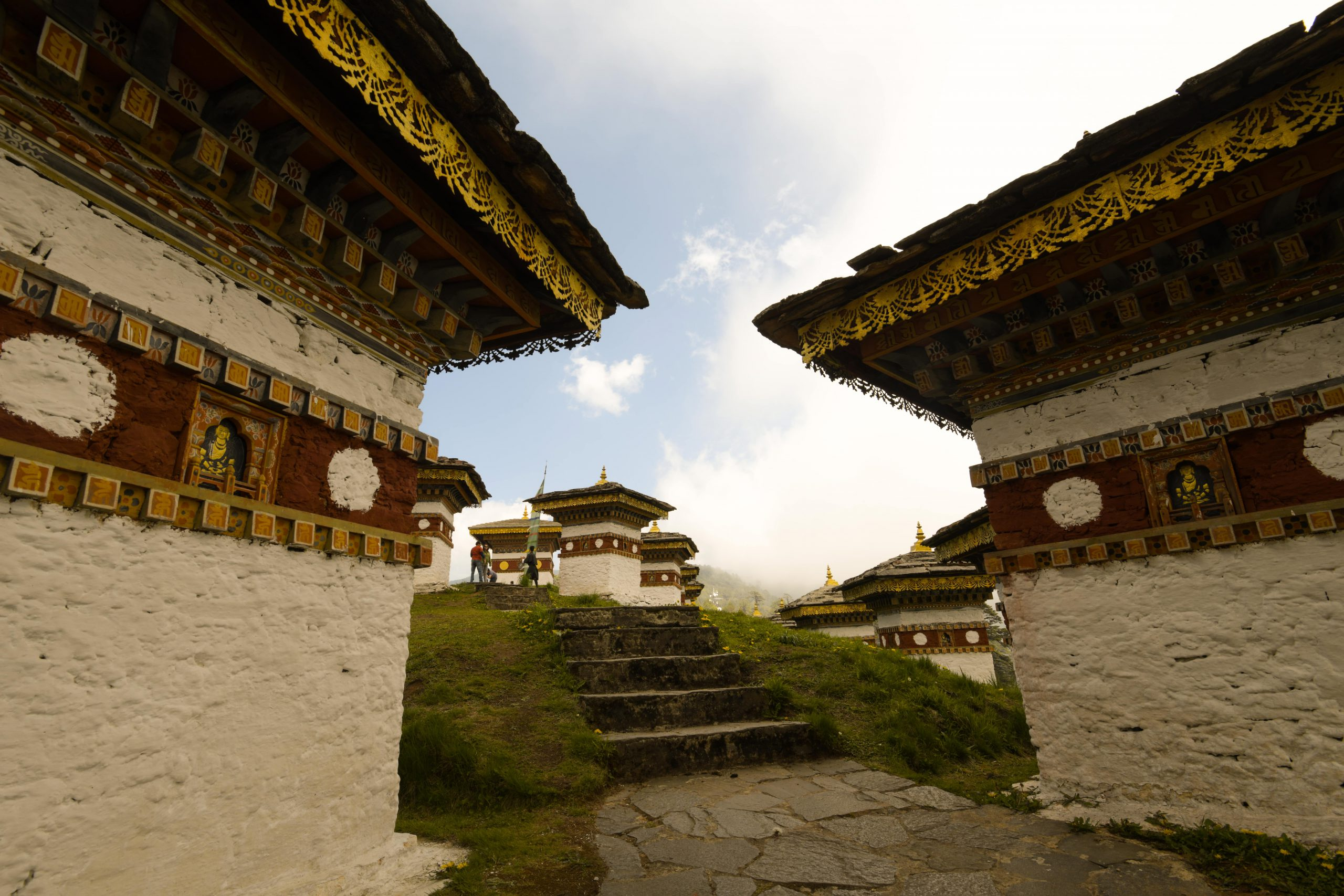 Dochula pass is located on the way to Punakha from Thimphu, forming a majestic backdrop to the tranquility of the 108 chortens gracing the mountain pass.