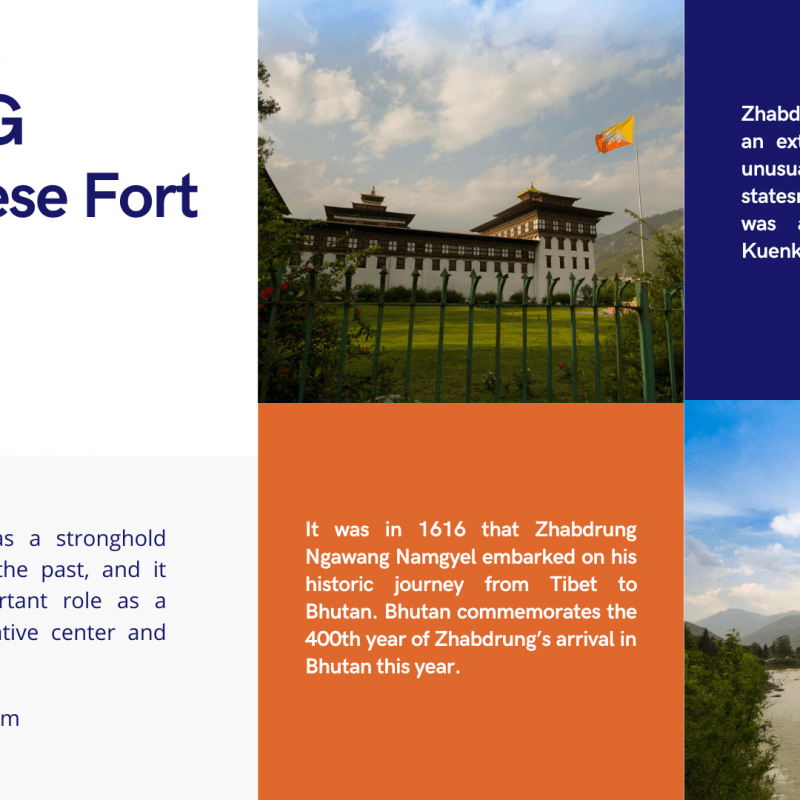 DZONG - Bhutanese Fort founded by Zhabdrung Ngawang Namgyel